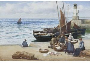 Alexander Young - Sorting The Catch, St Monan's
