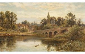 Alfred I Glendening - The Thames At Sonning
