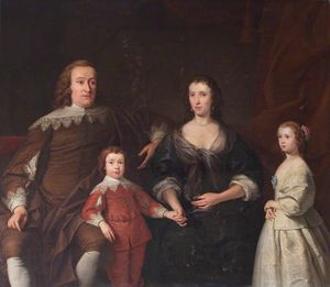 Andrea Soldi - The Earl And Countess Of Huntingdon And Their Two Children, Selina And Henry