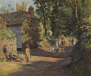 Elizabeth Adela Stanhope Forbes - Going To School