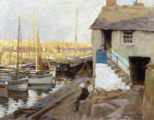 Elizabeth Adela Stanhope Forbes - Mousehole Harbour, Cornwall