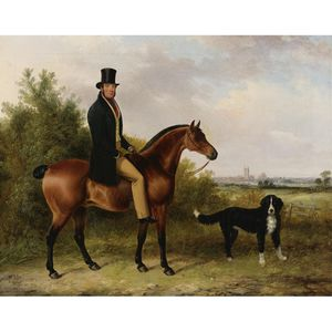George Cole Senior - John Peale On His Favorite Hunter And A Dog