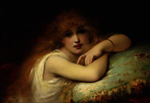 Pierre Olivier Joseph Coomans - A Young Woman Of Leisure