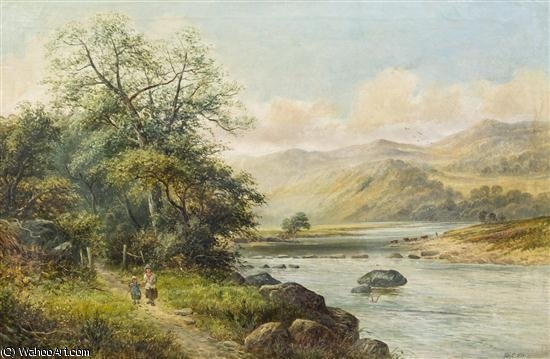 Order Art Reproductions | Path By The Lake by Ellis William Roberts | WahooArt.com