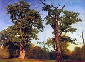 Albert Bierstadt - Pioneers of the Woods