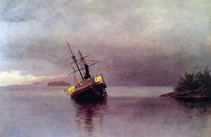 Albert Bierstadt - Wreck of the Ancon in Loring Bay