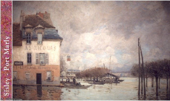 untitled by Alfred Sisley (1839-1899, France)