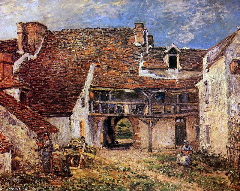 Inner court of smithy Sun by Alfred Sisley (1839-1899, France)