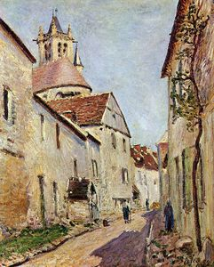 Order Oil Painting : Rue de la Tannerie by Alfred Sisley (1839-1899, France) | WahooArt.com
