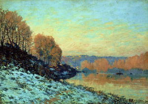 Alfred Sisley - seine bougival winter