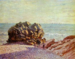 Alfred Sisley - Stor Rock Ladys cove in the evening Sun