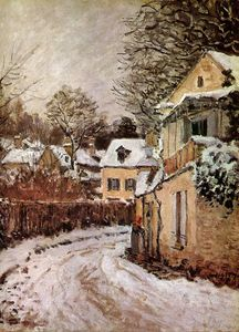 Alfred Sisley - Street in Louveciennes Sun