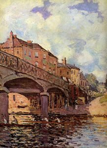 Alfred Sisley - The bridge at Hampton Sun