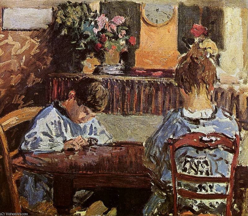 the lesson sun, 1874 by Alfred Sisley (1839-1899, France) | Museum Quality Reproductions | WahooArt.com