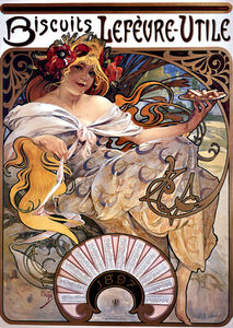 Alphonse Maria Mucha - biscuits lefeure-utile