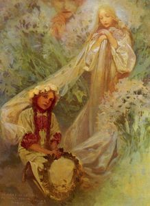 Alphonse Maria Mucha - madonna of the lilies