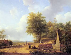 Andreas Schelfhout - the country road