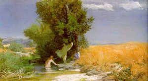 Arnold Bocklin - nymphs bathing