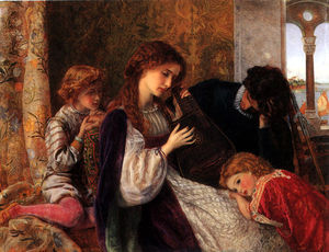 Arthur Hughes - a music party