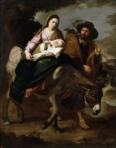 Bartolome Esteban Murillo - The Flight into Egypt