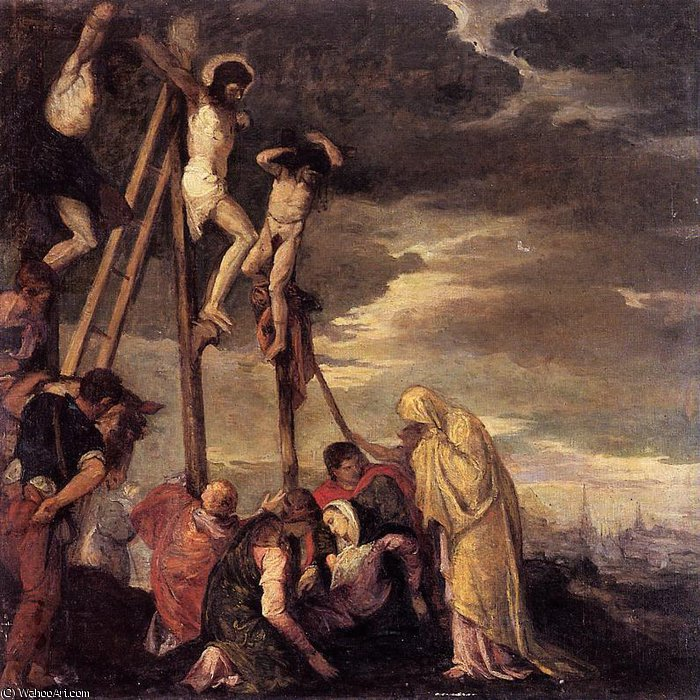 calvary (after veronese) by Berthe Morisot (1841-1895, France) | Painting Copy | WahooArt.com