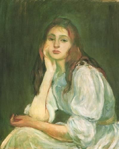 julie dreaming by Berthe Morisot (1841-1895, France) | Oil Painting | WahooArt.com