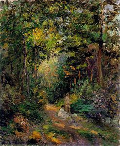 Camille Pissarro - Autumn, Path through the Woods.