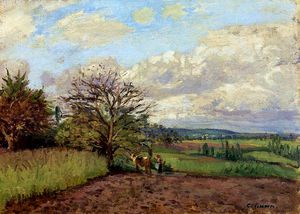 Camille Pissarro - Landscape with a Cowherd.