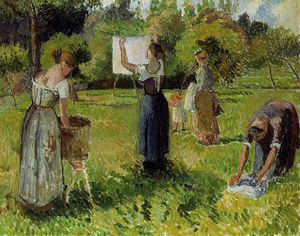 Camille Pissarro - Laundresses at Eragny.
