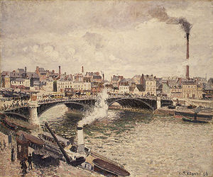 Camille Pissarro - morning an overcast day rouen
