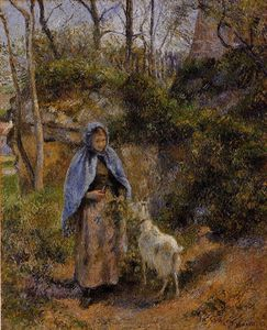 Camille Pissarro - Peasant Woman with a Goat.