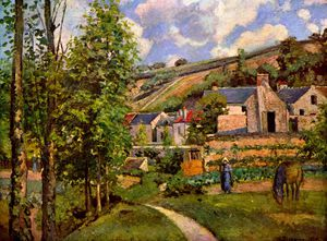 Camille Pissarro - The Hermitage at Pontoise.