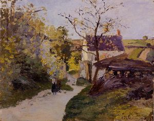 Camille Pissarro - The Large Walnut Tree at l_Hermitage.