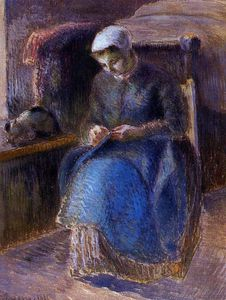 Camille Pissarro - woman sewing.
