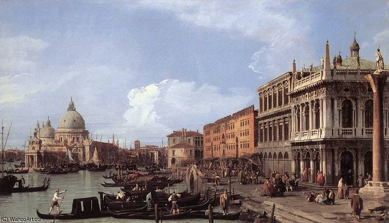 ETTO The Molo Looking West by Giovanni Antonio Canal (Canaletto) (1730-1768, Italy)