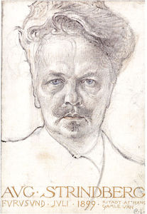 Carl Larsson - august strindberg