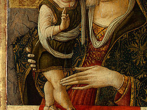 Carlo Crivelli - Madonna and Child, before