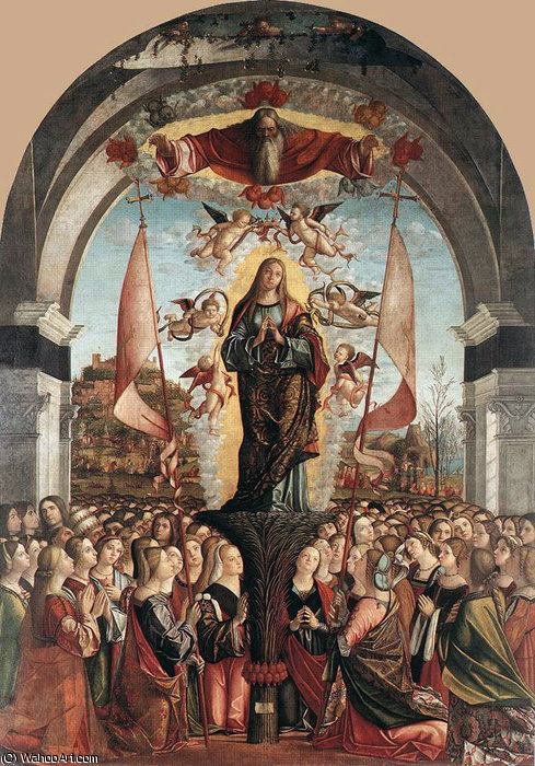 Apotheosis of St Ursula by Vittore Carpaccio (1465-1526, Italy) | Art Reproduction | WahooArt.com