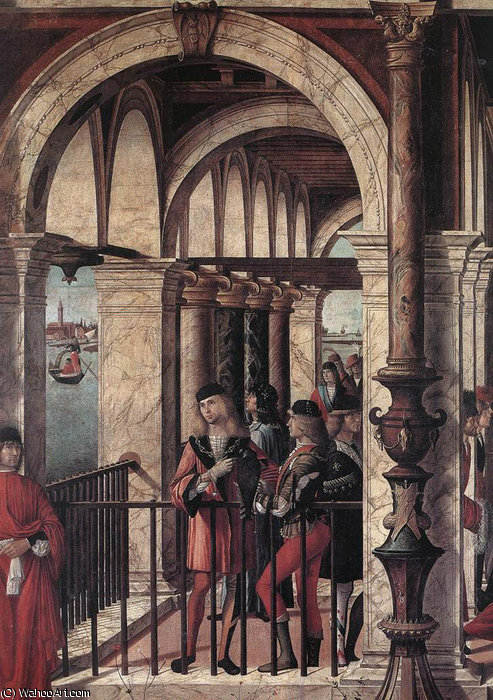 Arrival of the English Ambassadors (detail) by Vittore Carpaccio (1465-1526, Italy)