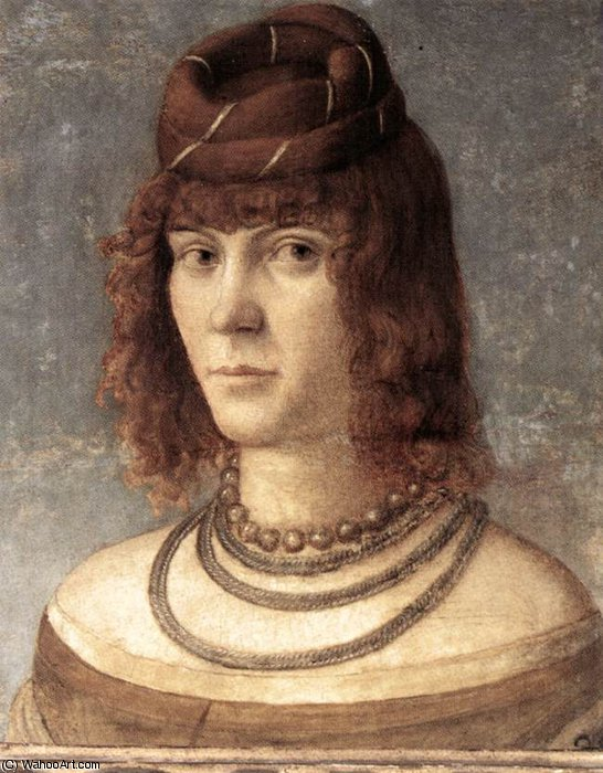 Portrait of a Woman by Vittore Carpaccio (1465-1526, Italy) | Painting Copy | WahooArt.com