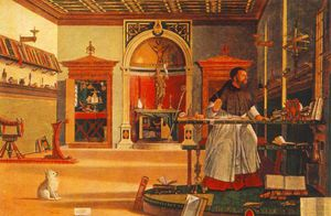 St Augustine in his studio, 1502 by Vittore Carpaccio  (buy Fine Art Art reproduction Vittore Carpaccio)
