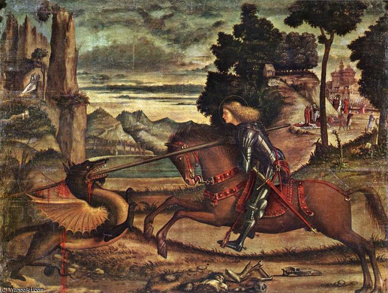 St George and the Dragon, 1516 by Vittore Carpaccio (1465-1526, Italy)