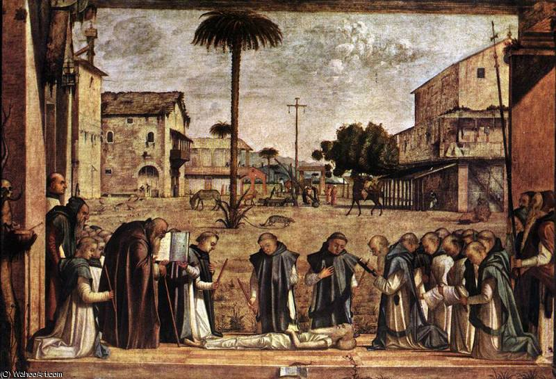 Funeral of St Jerome by Vittore Carpaccio (1465-1526, Italy)