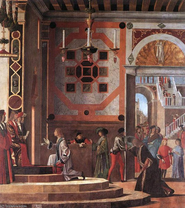 the ambassadors depart by Vittore Carpaccio (1465-1526, Italy)
