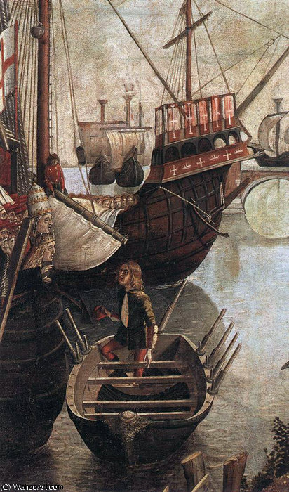 The Arrival of the Pilgrims in Cologne (detail) by Vittore Carpaccio (1465-1526, Italy)