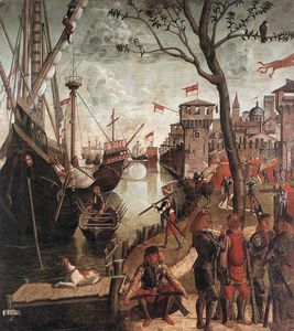 Vittore Carpaccio - The Arrival of the Pilgrims in Cologne
