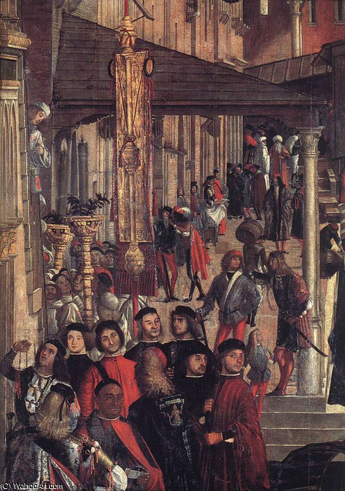 The Healing of the Madman (detail) by Vittore Carpaccio (1465-1526, Italy) | WahooArt.com