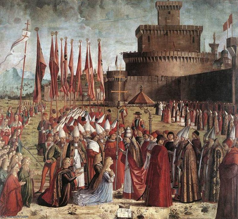 The Pilgrims Meet the Pope by Vittore Carpaccio (1465-1526, Italy)