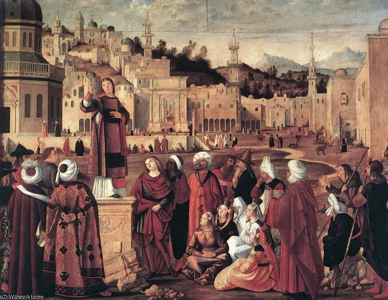 The Sermon of St Stephen by Vittore Carpaccio (1465-1526, Italy)