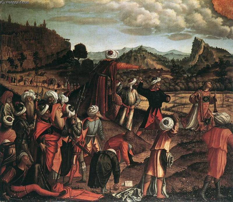 The Stoning of St Stephen by Vittore Carpaccio (1465-1526, Italy)